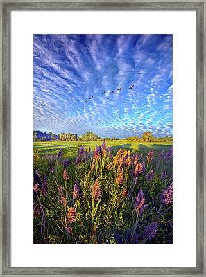 All Things Created And Held Together Framed Print