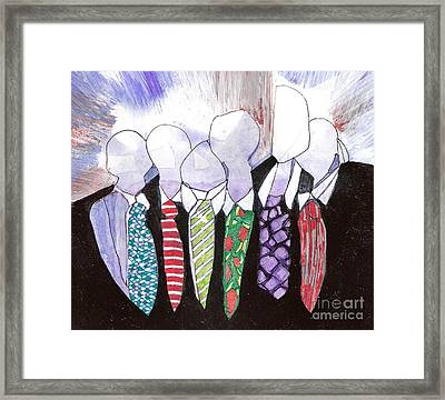 All Tied Up Framed Print by Joy Calonico