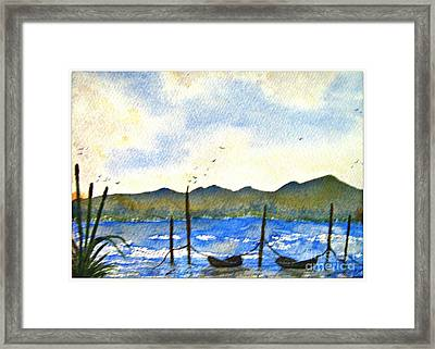 All Tied Up Framed Print by Leanne Seymour