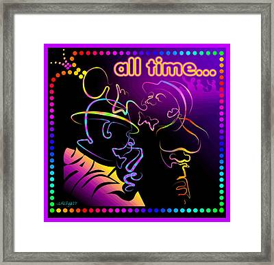 All Time Jazz Framed Print by William R Clegg
