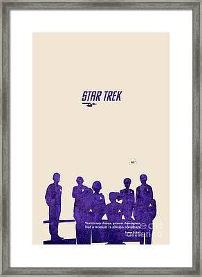 All Togheter - Purple Star Trek Framed Print by Pablo Franchi