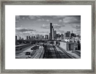 All Tracks Lead To Chicago Framed Print by Sheryl Thomas