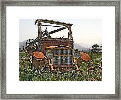All Used Up Framed Print by Peter Schumacher