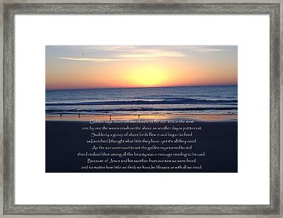 All We Need Framed Print by Chris  Jones