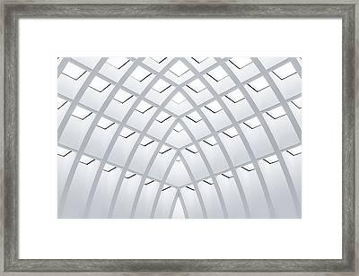 All White Framed Print