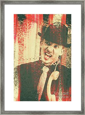 All Wires Crossed Framed Print