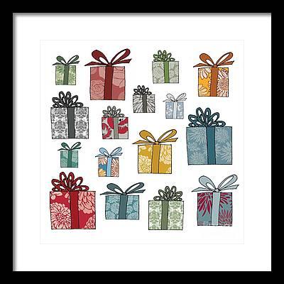 Happy Holidays Digital Art Framed Prints