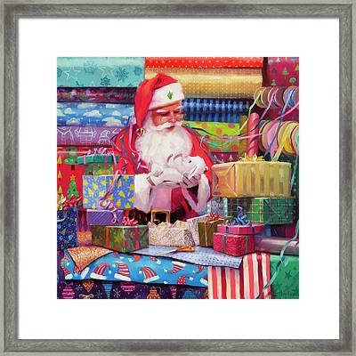 Framed Print featuring the painting All Wrapped Up by Steve Henderson