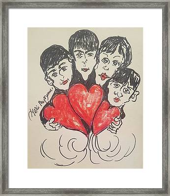 All You Need Is Love Beatles Framed Print by Geraldine Myszenski