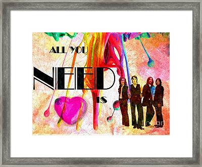 All You Need Is Love Framed Print by Daniel Janda