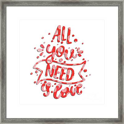 All You Need Is Love Framed Print by Edward Fielding