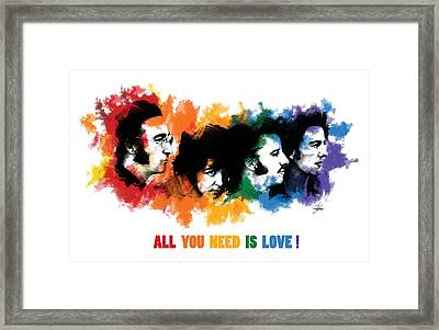 All You Need Is Love Framed Print by Ryan Anderson