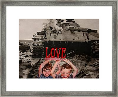 All You Need Is... Framed Print by Valerie Patterson