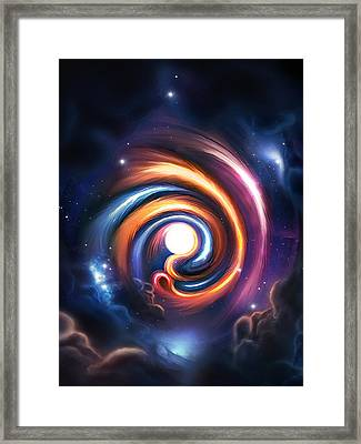 Allah  Enlightenment  Framed Print by Ahmer Farooqui