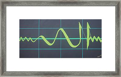 Allah In Cardiograph Framed Print by Faraz Khan