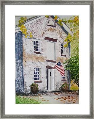 Allaire Carpenter Shop Framed Print by Ally Benbrook