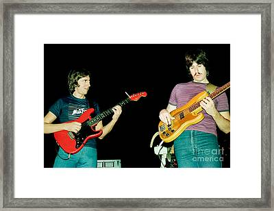 Allan Holdsworth And Jeff Berlin I O U 1983 Tour In Berkeley Ca Framed Print
