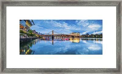 Allegheny River  Framed Print by Emmanuel Panagiotakis