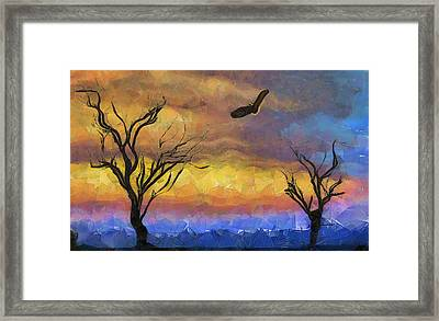 Allegorical Flight Of Death Framed Print by Anthony Caruso
