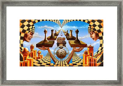 Allegory Of Chess. Equal Exchange Framed Print