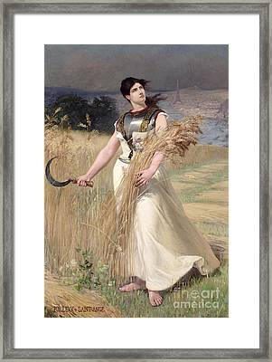 Allegory Of France Framed Print by Georges Louis Poilleux Saint Ange