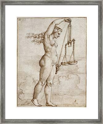 Allegory Of Justice Framed Print