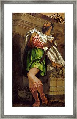 Allegory Of Navigation With A Cross Staff Averroes Framed Print