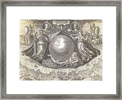 Allegory Of West Indies Or Americas Framed Print by Theodore de Bry