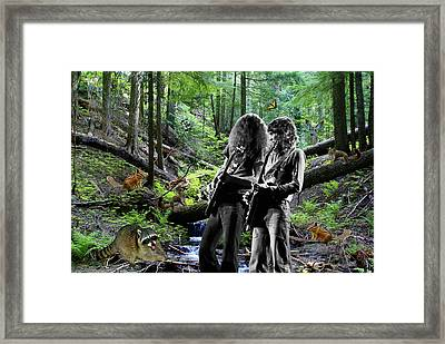Framed Print featuring the photograph Allen And Steve Jam With Friends On Mt. Spokane by Ben Upham