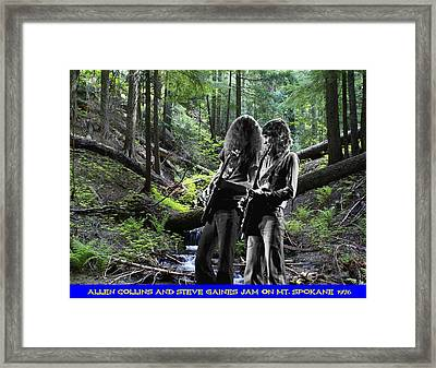 Framed Print featuring the photograph Allen And Steve On Mt. Spokane by Ben Upham