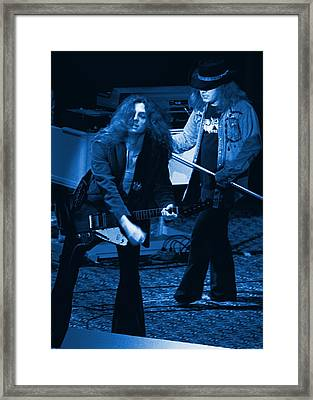 Allen Collins And Ronnie Van Zant Same Old Winterland Blues Framed Print