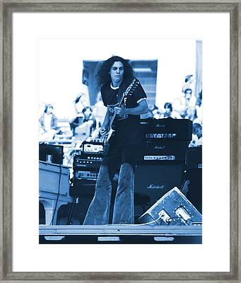 Allen Collins In Blue Oakland 1975 Framed Print