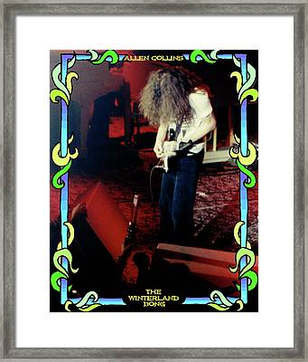 Framed Print featuring the photograph A C Winterland Bong 4 by Ben Upham
