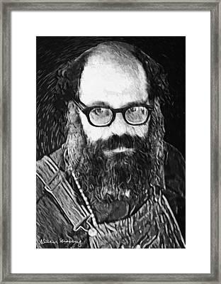 Allen Ginsberg Framed Print by Taylan Apukovska