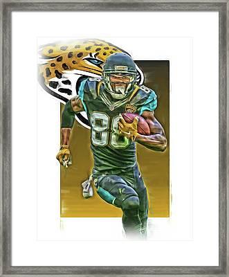 Allen Hurns Jacksonville Jaguars Oil Art 2 Framed Print