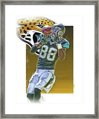 Allen Hurns Jacksonville Jaguars Oil Art Framed Print