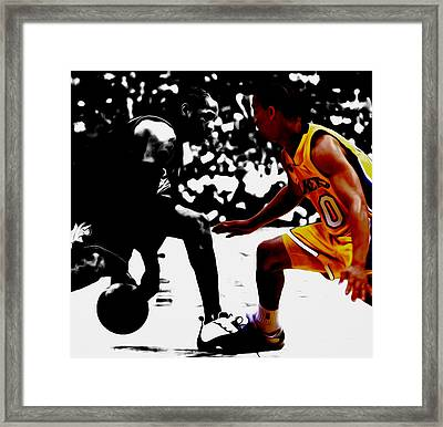 Allen Iverson And Tyronn Lue Framed Print