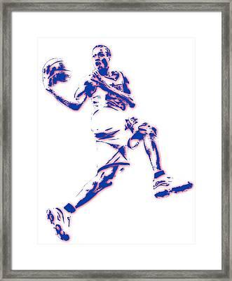Allen Iverson Philadelphia Sixer Pixel Art Framed Print by Joe Hamilton