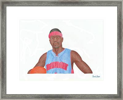 Allen Iverson Framed Print by Toni Jaso