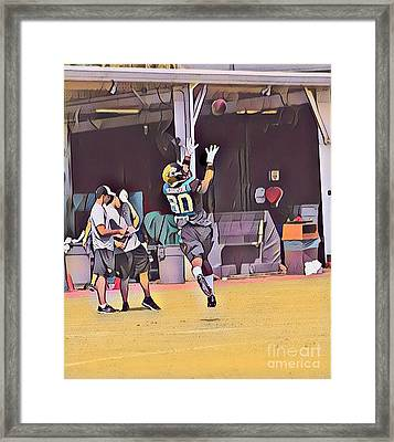 Allen Robinson Framed Print by Clint Day