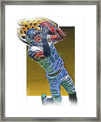 Allen Robinson Jacksonville Jaguars Oil Art Framed Print