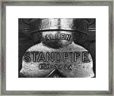 Allen Standpipe Framed Print by Robert Ullmann
