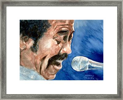 Framed Print featuring the painting Allen Toussaint by Andrew Gillette
