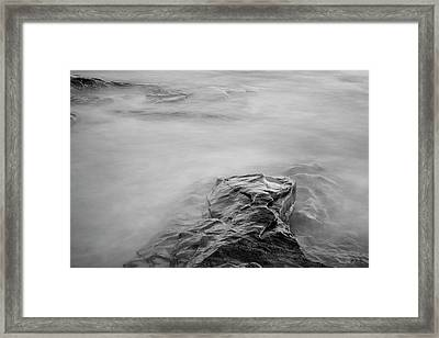 Framed Print featuring the photograph Allens Pond Xii Bw by David Gordon