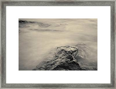 Framed Print featuring the photograph Allens Pond Xii Toned by David Gordon