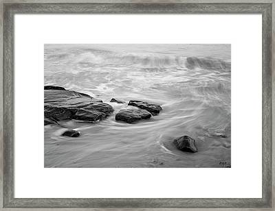 Framed Print featuring the photograph Allens Pond Xiii Bw by David Gordon