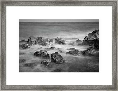 Framed Print featuring the photograph Allens Pond Xix Bw by David Gordon