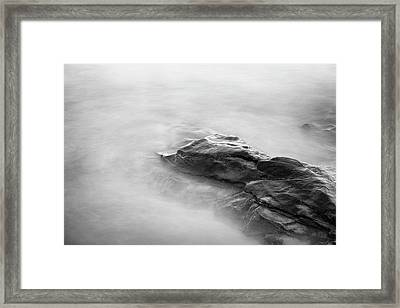 Framed Print featuring the photograph Allens Pond Xv Bw by David Gordon