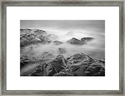 Framed Print featuring the photograph Allens Pond Xvi Bw by David Gordon