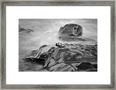 Framed Print featuring the photograph Allens Pond Xvii Bw by David Gordon